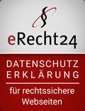 eRecht24.de - rechtsichere Datenschutzerklärung