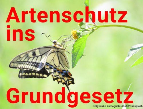 ARTENSCHUTZ INS GRUNDGESETZ